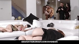 DaughterSwap - Sexy Teen Daughters Screwed Next To Passed Out Mothers