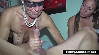 Rich granny splash and deep facehole with rasta milf